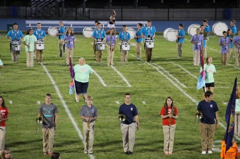 Raider Marching Band during Fall Meet The Raiders, TASD Sports Stadium, Tamaqua, 8-26-2015 (72)