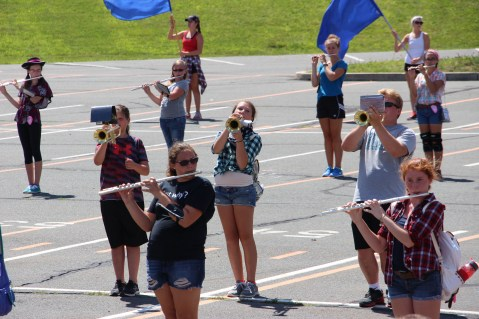 Tamaqua Raider Band Camp, Middle School Parking Lot, Tamaqua, 8-13-2015 (302)