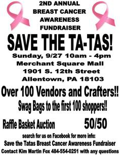 9-27-2015, Save The Ta-Tas Vendor and Craft Fair, Merchant Square Mall, Allentown