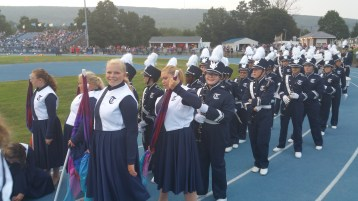 Blue Out Football Game, Benefit for Thelma Urban, Raider Band, Sports Stadium, Tamaqua, 9-4-2015 (106)