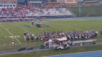 Blue Out Football Game, Benefit for Thelma Urban, Raider Band, Sports Stadium, Tamaqua, 9-4-2015 (109)
