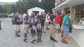 Blue Out Football Game, Benefit for Thelma Urban, Raider Band, Sports Stadium, Tamaqua, 9-4-2015 (12)