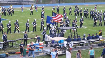 Blue Out Football Game, Benefit for Thelma Urban, Raider Band, Sports Stadium, Tamaqua, 9-4-2015 (122)