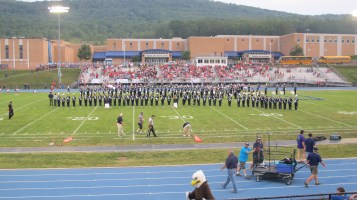 Blue Out Football Game, Benefit for Thelma Urban, Raider Band, Sports Stadium, Tamaqua, 9-4-2015 (203)