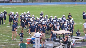 Blue Out Football Game, Benefit for Thelma Urban, Raider Band, Sports Stadium, Tamaqua, 9-4-2015 (226)
