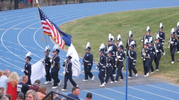 Blue Out Football Game, Benefit for Thelma Urban, Raider Band, Sports Stadium, Tamaqua, 9-4-2015 (235)