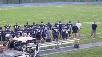 Blue Out Football Game, Benefit for Thelma Urban, Raider Band, Sports Stadium, Tamaqua, 9-4-2015 (248)