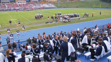 Blue Out Football Game, Benefit for Thelma Urban, Raider Band, Sports Stadium, Tamaqua, 9-4-2015 (264)