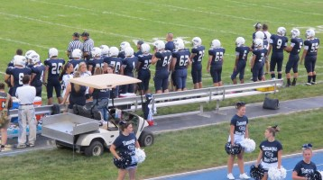 Blue Out Football Game, Benefit for Thelma Urban, Raider Band, Sports Stadium, Tamaqua, 9-4-2015 (270)