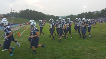 Blue Out Football Game, Benefit for Thelma Urban, Raider Band, Sports Stadium, Tamaqua, 9-4-2015 (81)