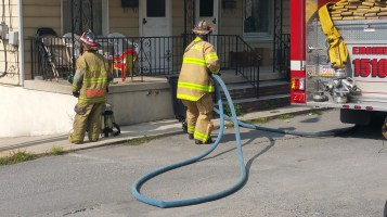 House Fire, Smoke, West Water Street, Lansford, 9-1-2015 (29)