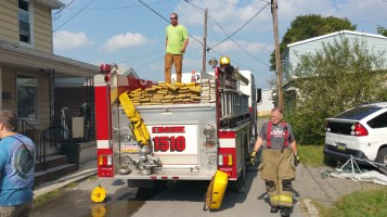 House Fire, Smoke, West Water Street, Lansford, 9-1-2015 (83)