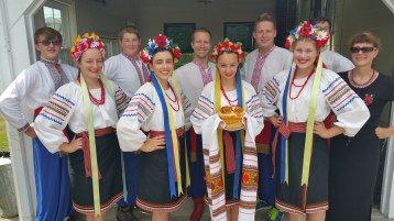 Kazka Ukrainian Folk Ensemble, during Parish Picnic, St. Mary's Ukrainian Catholic Church, McAd (36)