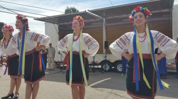 Kazka Ukrainian Folk Ensemble, during Parish Picnic, St. Mary's Ukrainian Catholic Church, McAd (45)