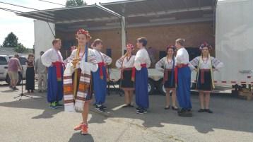 Kazka Ukrainian Folk Ensemble, during Parish Picnic, St. Mary's Ukrainian Catholic Church, McAd (48)