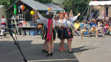 Kazka Ukrainian Folk Ensemble, during Parish Picnic, St. Mary's Ukrainian Catholic Church, McAd (78)