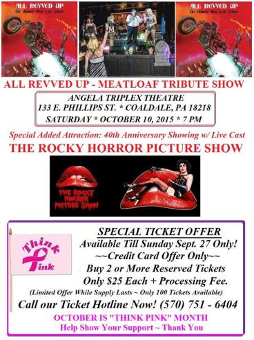 10-10-2015, Tribute to Rock and Classic Cult Movie, Angela Triplex Theatre, Coaldale (2)