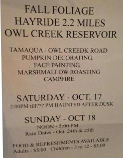10-17, 18-2015, Fall Foliage Hayride, Owl Creek Reservoir, Tamaqua (2)