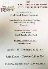 10-17, 18-2015, Fall Foliage Hayride, Owl Creek Reservoir, Tamaqua