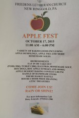 10-17-2015, Apple Fest, Friedens Lutheran Church, New Ringgold