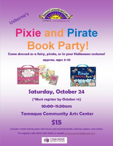 10-24-2015, Usborne's Pixie and Pirate Book Party, Tamaqua Community Arts Center, Tamaqua