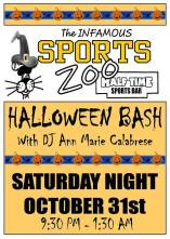 10-31-2015, Halloween Bash, (Ages 21 and up), Sports Zoo, Lansford
