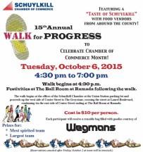10-6-2015, Walk For Progress, Schuylkill Chamber Conference Center, Union Station, Pottsville
