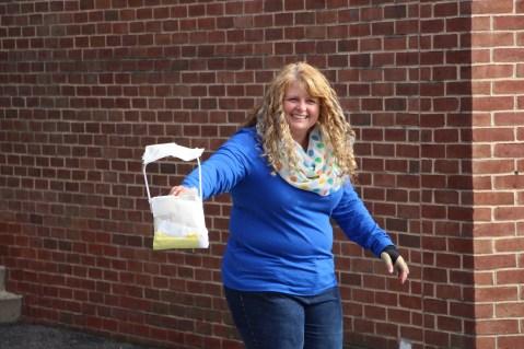 Egg Drop Challenge, 5th Grade, West Penn Elementary School, Tamaqua, 10-30-2015 (16)