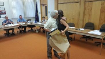 Leona Rega, Award, Tamaqua Borough Council Meeting, Borough Hall, Tamaqua, 9-1-2015 (6)