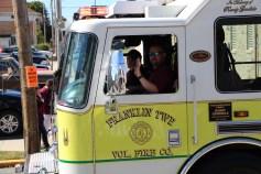 Parade for New Fire Station, Pumper Truck, Boat, Lehighton Fire Department, Lehighton (205)