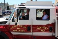 Parade for New Fire Station, Pumper Truck, Boat, Lehighton Fire Department, Lehighton (292)
