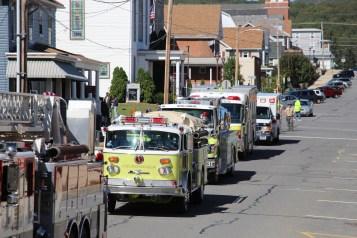 Parade for New Fire Station, Pumper Truck, Boat, Lehighton Fire Department, Lehighton (295)