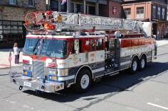 Parade for New Fire Station, Pumper Truck, Boat, Lehighton Fire Department, Lehighton (301)