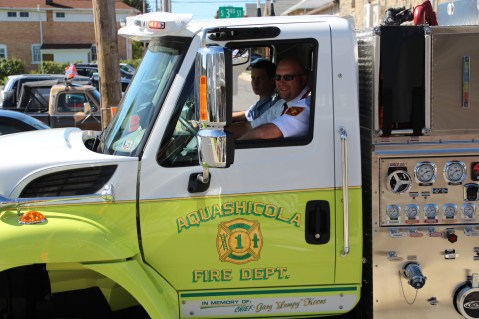 Parade for New Fire Station, Pumper Truck, Boat, Lehighton Fire Department, Lehighton (310)