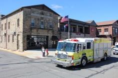 Parade for New Fire Station, Pumper Truck, Boat, Lehighton Fire Department, Lehighton (312)