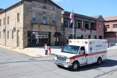 Parade for New Fire Station, Pumper Truck, Boat, Lehighton Fire Department, Lehighton (315)