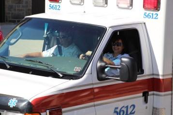 Parade for New Fire Station, Pumper Truck, Boat, Lehighton Fire Department, Lehighton (316)