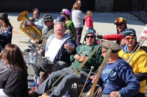 Parade for New Fire Station, Pumper Truck, Boat, Lehighton Fire Department, Lehighton (332)