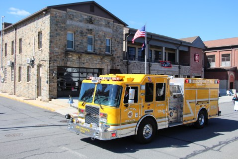 Parade for New Fire Station, Pumper Truck, Boat, Lehighton Fire Department, Lehighton (354)