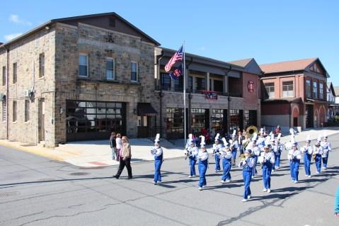 Parade for New Fire Station, Pumper Truck, Boat, Lehighton Fire Department, Lehighton (386)