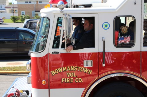 Parade for New Fire Station, Pumper Truck, Boat, Lehighton Fire Department, Lehighton (408)