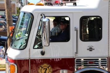 Parade for New Fire Station, Pumper Truck, Boat, Lehighton Fire Department, Lehighton (416)