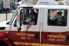 Parade for New Fire Station, Pumper Truck, Boat, Lehighton Fire Department, Lehighton (423)