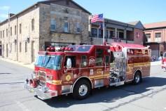 Parade for New Fire Station, Pumper Truck, Boat, Lehighton Fire Department, Lehighton (425)