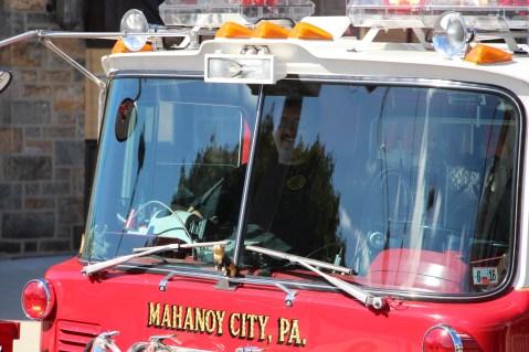 Parade for New Fire Station, Pumper Truck, Boat, Lehighton Fire Department, Lehighton (430)