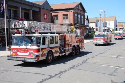 Parade for New Fire Station, Pumper Truck, Boat, Lehighton Fire Department, Lehighton (71)