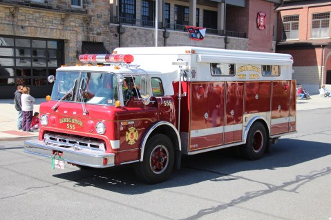 Parade for New Fire Station, Pumper Truck, Boat, Lehighton Fire Department, Lehighton (83)