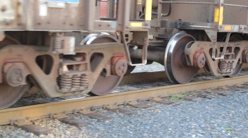 Train Passing in front of Tamaqua Train Station, Tamaqua, 9-15-2015 (13)