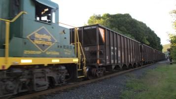 Train Passing in front of Tamaqua Train Station, Tamaqua, 9-15-2015 (4)