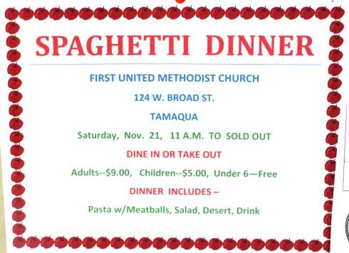 11-21-2015, Spaghetti Dinner, First United Methodist Church, Tamaqua (2)